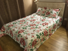 Покрывало Lux Cotton Принт 240*240 диз. Проза